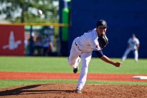 Carlos Hernandez admires Pedro Martinez -- and is starting to pitch like him too. (Kevin Hume/Hillsboro Hops)