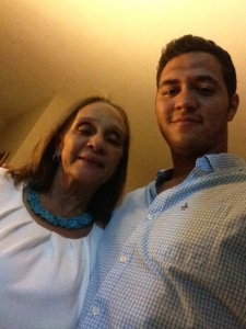 Hernandez with his grandmother, Alicia. (Photo courtesy of Carlos Hernandez)